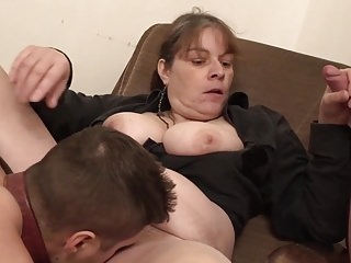 Bossy Grandma Plus Will Not Hear Of Duo Young Quarters Slaves